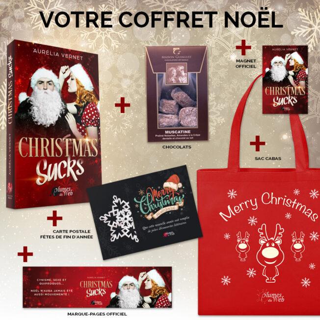 <span class='titre'>Christmas Sucks</span> - <span class='sous_titre'>Pack Spécial Noël</span> - <span class='auteur'>Aurélia Vernet</span> - <span class='type_produit'>Broché</span> 2