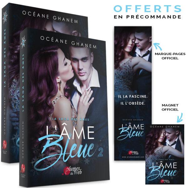 "<span class=""titre"">La Saga des Âmes : L'Âme Bleue</span> - <span class=""sous_titre"">Pack Tomes 1 et 2</span> - <span class=""auteur"">Océane Ghanem</span> - <span class=""type_produit"">Broché</span> 2"