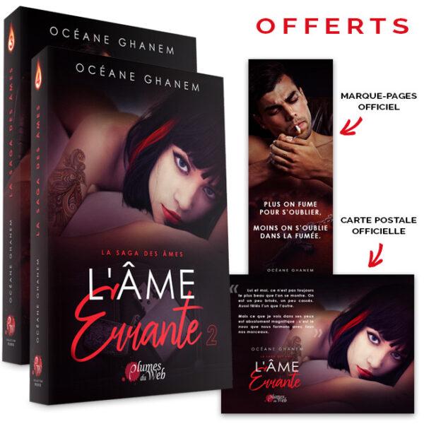 """<span class=""""titre"""">La Saga des Âmes : L'Âme Errante</span> - <span class=""""sous_titre"""">Pack Tomes 1 et 2</span> - <span class=""""auteur"""">Océane Ghanem</span> - <span class=""""type_produit"""">Broché</span> 2"""