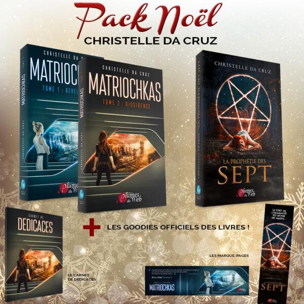 <span class='titre'>Pack Noël Christelle da Cruz</span> - <span class='sous_titre'>Matriochkas + La Prophétie des Sept + Goodies</span> 2