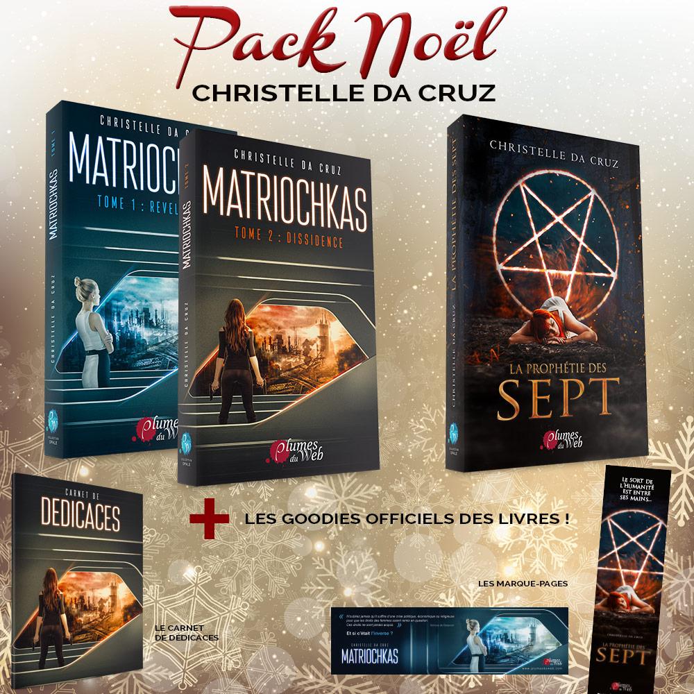 <span class='titre'>Pack Noël Christelle da Cruz</span> - <span class='sous_titre'>Matriochkas + La Prophétie des Sept + Goodies</span> 1