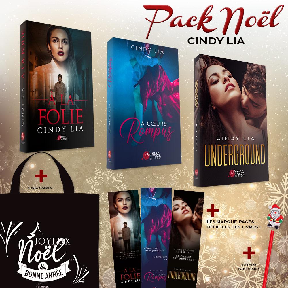 <span class='titre'>Pack Noël Cindy Lia</span> - <span class='sous_titre'>À la Folie + À Coeurs rompus + Underground + Goodies</span> 1