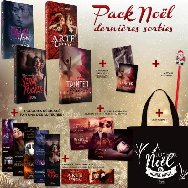 <span class='titre'>Pack Noël Dernières Sorties</span> - <span class='sous_titre'>4 Livres + 13 Goodies OFFERTS</span> 2