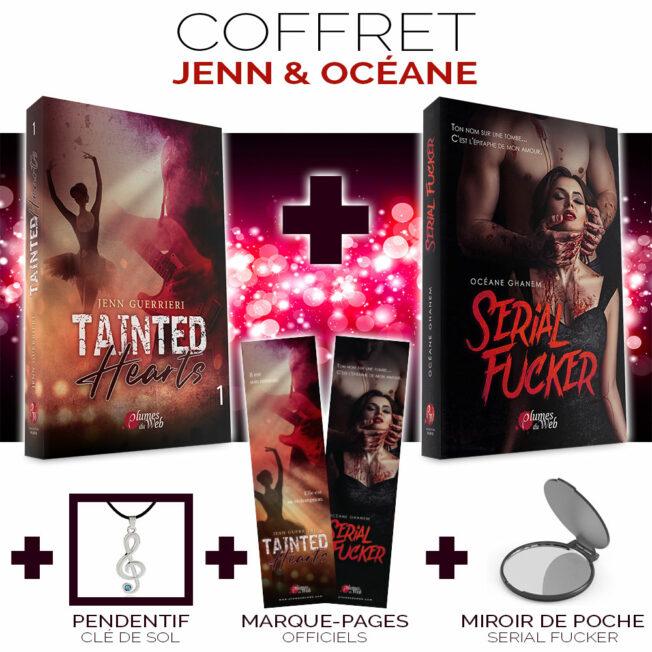 <span class='titre'>Coffret Jenn et Océane</span> - <span class='sous_titre'>Tainted Hearts 1 + Serial Fucker</span> 2