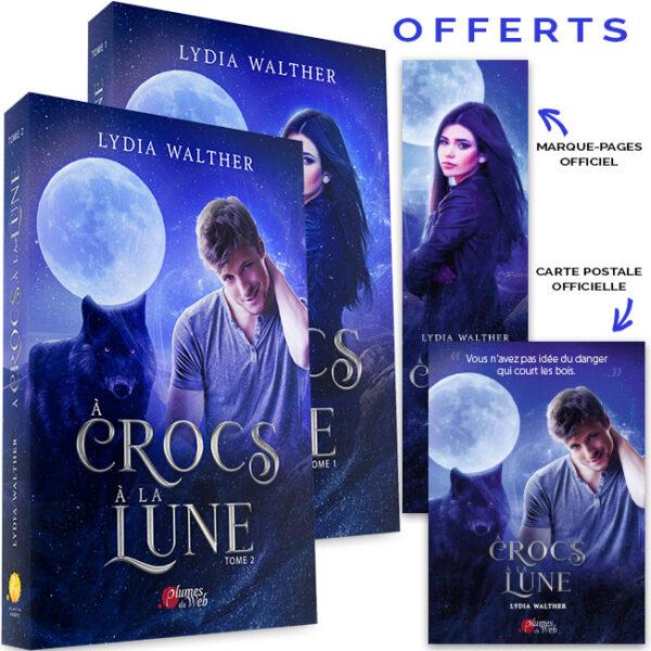 <span class='titre'>À Crocs à la Lune</span> - <span class='sous_titre'>Pack Tomes 1 & 2</span> - <span class='auteur'>Lydia Walther</span> - <span class='type_produit'>Broché</span> 2